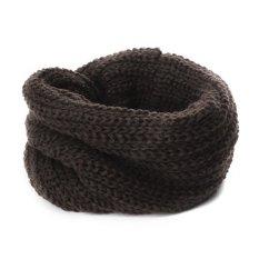 Giá bán Whyus-Universal Autumn Winter Warm Soft Bib Scarf Kids Knitted Collar Neck Warmmer For Cute Baby Girl(Coffee)
