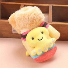 Giá bán Mùa đông Cho Bé găng tay Treo cổ Găng Tay Sáng Tạo Hoạt Hình Trẻ Em Dễ Thương Dệt Kim (Màu Vàng)-quốc tế