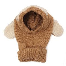 Hình ảnh Mùa đông Bò Cho Bé Trẻ Em Bé Trai & Gái Mũ Ấm Áp Mũ Trùm Khăn Earflap Dệt Kim Len Kaki-Quốc Tế