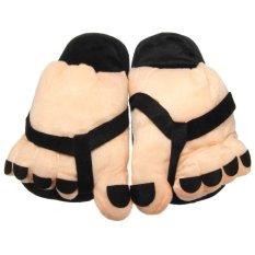 Mua Women Funny Large Foot Winter Slippers Home Indoor Floor Non Slip Slipper Women Ladies Warm Foot Plush Shoe Inner Length 25 5Cm Intl Intl Rẻ