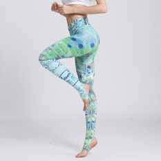 Hình ảnh Women Sexy Yoga Pants Printed Dry Fit Sport Pants Elastic Fitness Gym Pants Workout Running Tight Sport Leggings Female Trousers