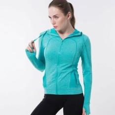Women Ultra-Light Sports Jackets Zipper Hooded Running Coatbreathable Quick-Dry Long Sleeve Pocket Fitness Sweatshirtouterwear - intl