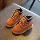 YingWei Mới Dành Foots Phối Ren Cổ Giày Bốt Martin chống trơn trượt Trẻ Em (Màu Nâu)-quốc tế