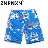 Znpnxn Fashion Men Casual Beach Shorts Man Swimwear Trunks Sea Men S Board Shorts Casual Shorts Swimsuits(Blue) Intl Trong Trung Quốc