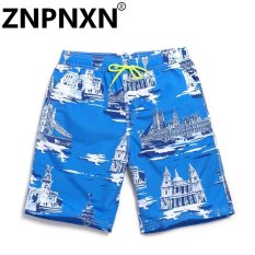Giá Bán Znpnxn Fashion Men Casual Beach Shorts Man Swimwear Trunks Sea Men S Board Shorts Casual Shorts Swimsuits(Blue) Intl Trực Tuyến