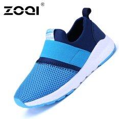 Mã Khuyến Mại Zoqi Be Trai Va Be Gai Thời Trang Giay Sneaker Thoang Khi Giay Thể Thao Xanh Dương Quốc Tế Bình Dương