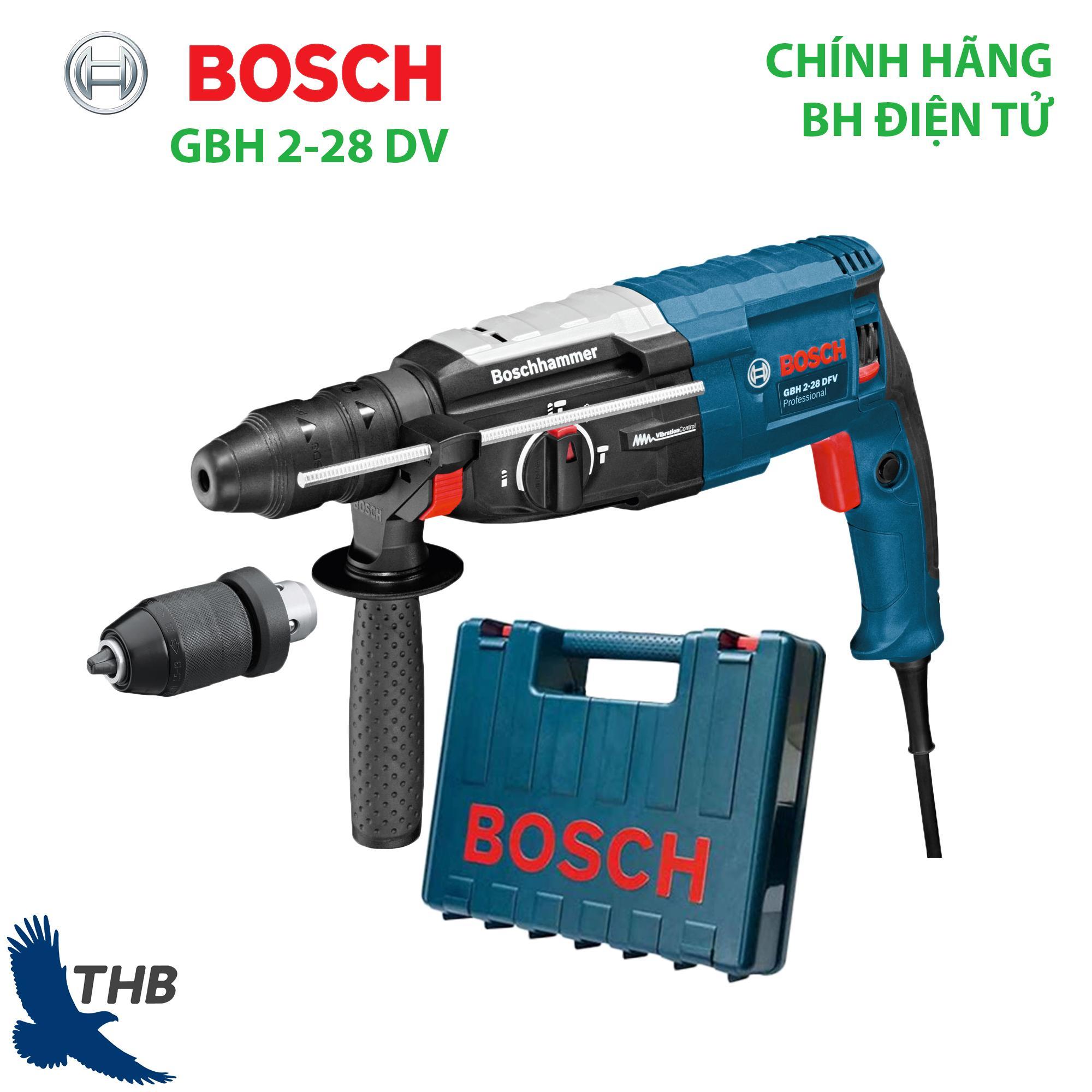 Máy khoan búa Máy khoan đục bê tông Bosch GBH 2-28 DFV Chống rung Thay đầu cặp dễ dàng