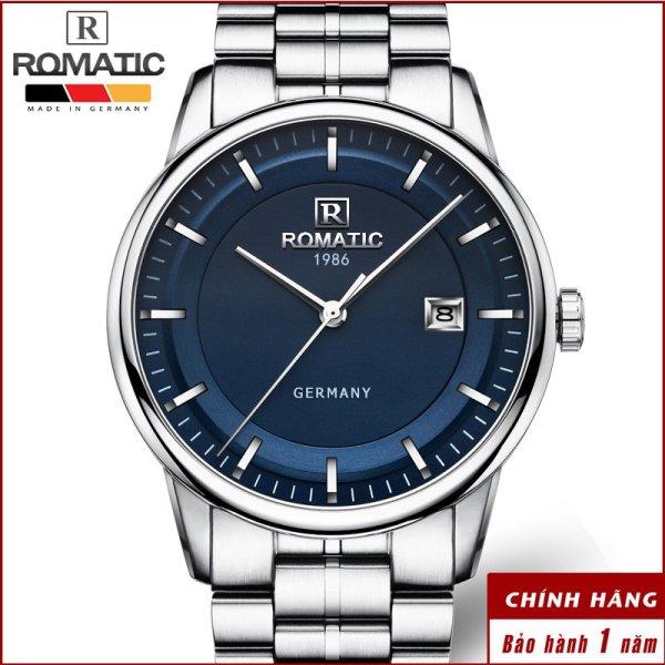 Nơi bán [SIÊU SALE ] Đồng hồ Nam ROMATIC  Máy GERMANY - Thương Hiệu ĐỨC - Khóa Bướm và Dây Thép Đúc Đặc Cao Cấp