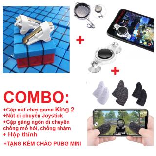 [COMBO] Nút chơi game D9 Nút di chuyển Joystick Bao tay chống mồ hôi chơi game pubg mobile, free fire, liên quân mobile Găng tay cảm ứng mượt thumbnail