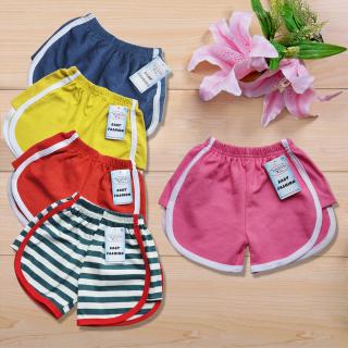 Combo 5 quần đùi thun bé gái nhiều màu, vải cotton 100% cao cấp 4 chiều, thấm hút mồ hôi, co giãn tốt, quần short bé gái dễ thương thumbnail