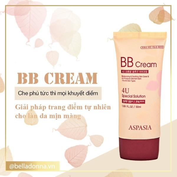 Kem Nền Aspasia 4U Special Bb Solution Cream Spf50 Pa+++