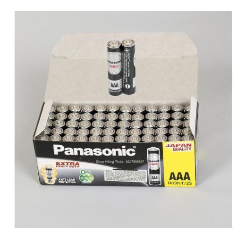 Pin AAA hộp 60 viên Carbon 1.5v PANASONIC R03NT/2S