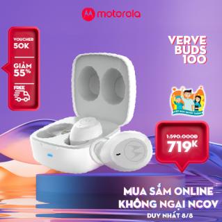 Tai nghe không dây TWS - Motorola VerveBuds100- Bluetooth 5.0 Chống nước IPX5 Pin 14h Phù hợp với Iphone Samsung Huawei Sony Xiaomi Oppo LG Nokia thumbnail