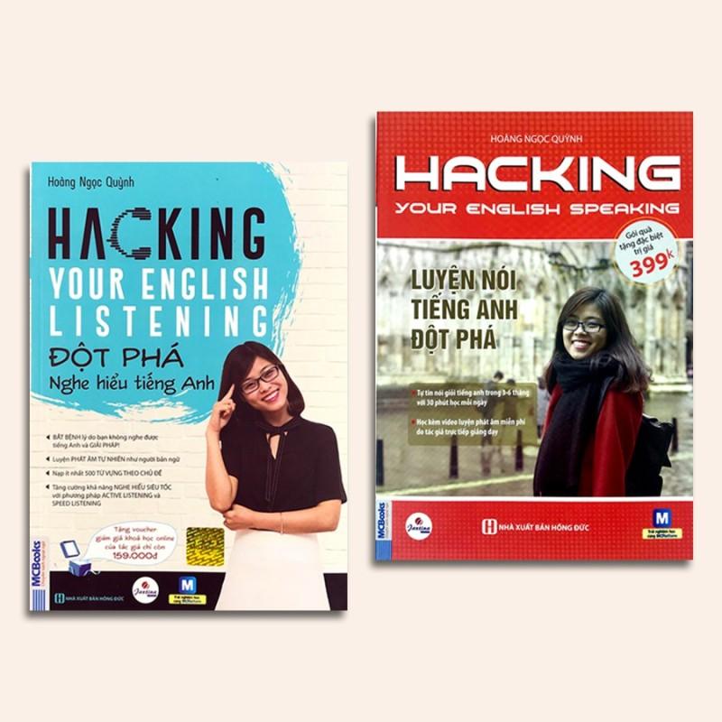 Sách - Combo Hacking Your English Speaking Listening - Đột phá luyện nghe nói tiếng Anh Tặng Video Hack Não