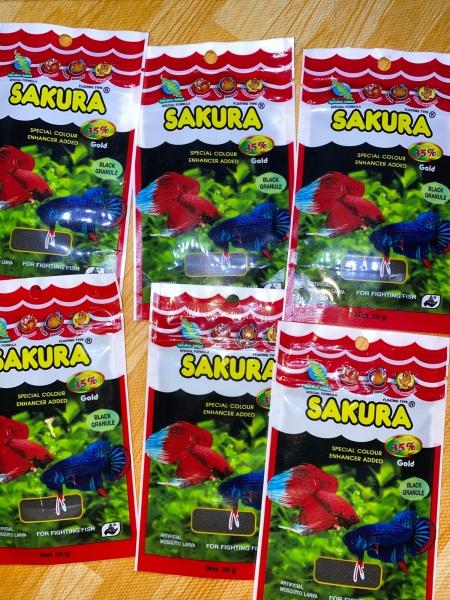 Thức ăn Sakura Gold dành cho cá lia thia 20g | Hạt Đen