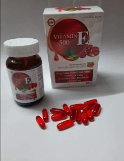 VITAMIN E Đỏ 500 - Chống Oxy Hóa - Hạn Chế Lão Hóa. Làm Đẹp Da Với Tinh Chất Hoa Anh Thảo, Tinh Dầu Óc Chó 4