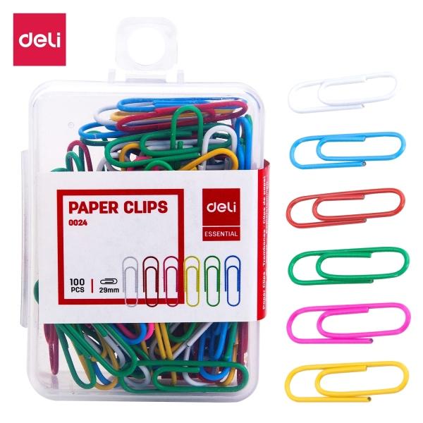 Mua Ghim vòng màu #3 DELI, 29mm, nhiều màu - 100 cái/hộp - 2 hộp - E0024