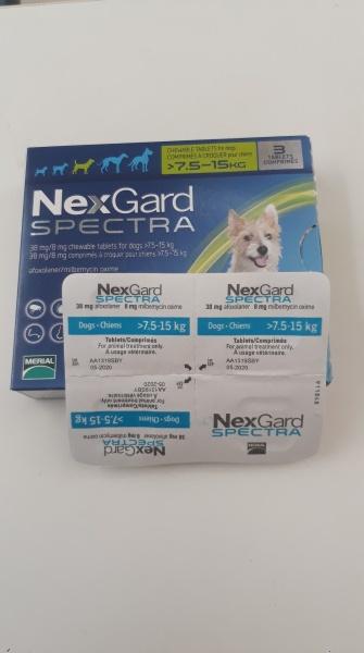 1 Viên nhai giúp loại bỏ nội ngoại kí sinh ở chó Nexgard Spectra 7.5kg-15kg