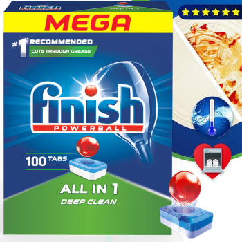 Viên rửa bát Finish All in one 100 viên