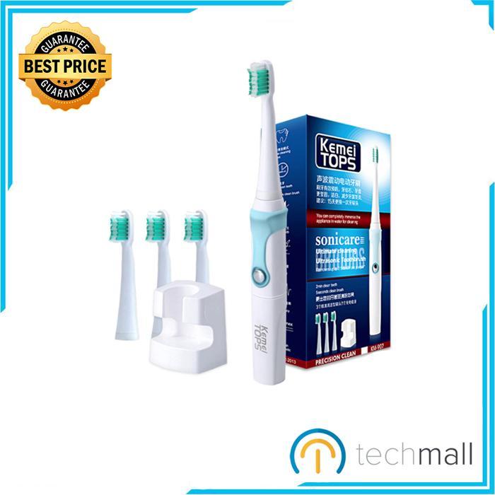 Bàn chải đánh răng điện Kemei KM-907- Công nghệ siêu âm tích hợp sạc không dây cao cấp - Bảo hành 6 tháng