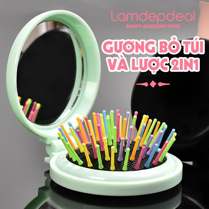 Gương Lược gấp 2 in 1 nhiều màu - Lavy Store tốt nhất