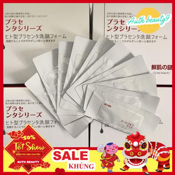 [ MẪU MỚI ] Hộp 50 gói Mặt Nạ Ủ Trắng Nhau Thai Cừu của Nhật Bản - Hàng hiệu chính hãng nhập khẩu