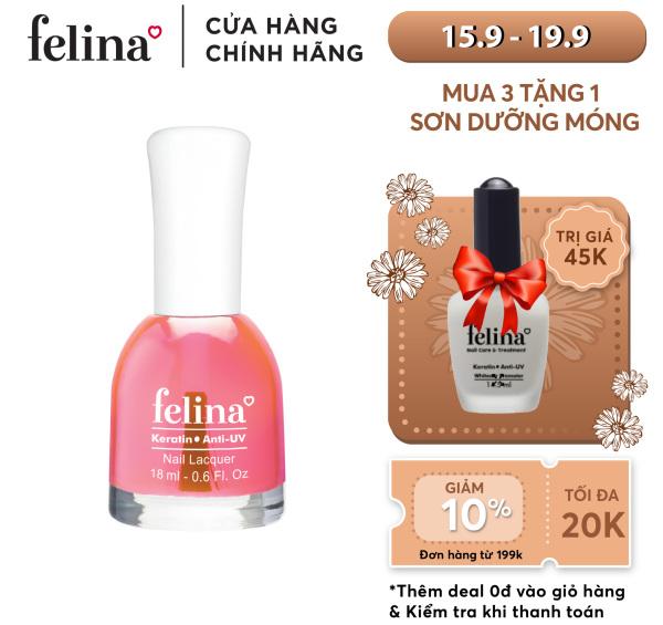 Sơn móng tay Felina 18ml - bóng hồng đậm - code CB102