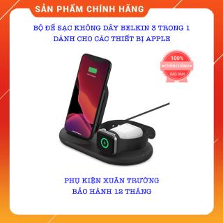 Bộ Đế Sạc Không Dây BELKIN 3 TRONG 1 Cho Các Thiết Bị APPLE Iphone, Apple Watch, Airpods - Chính Hãng Belkin - Bảo Hành 12 Tháng thumbnail