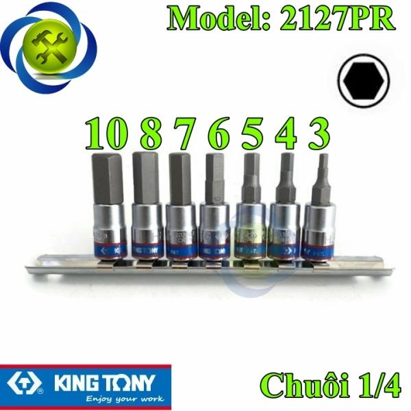 Bộ tuýp lục giác 1/4 Kingtony 2127PR 7 chi tiết H3-H10