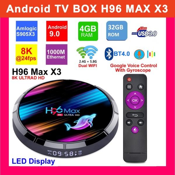 Bảng giá Android TV BOX H96 Max X3 Ram 4GB 326GB ROM Smart Android 9.0 8K - Biến TV Thường Thành Smart TV