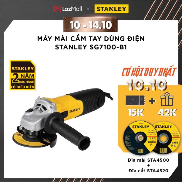 [TẶNG: Đá mài + Cắt 42K] Máy mài cầm tay dùng điện Stanley SG7100-B1 | 750W | Bảo hành 2 năm | Chính hãng | Thay thế cho mã STGS6100-B1