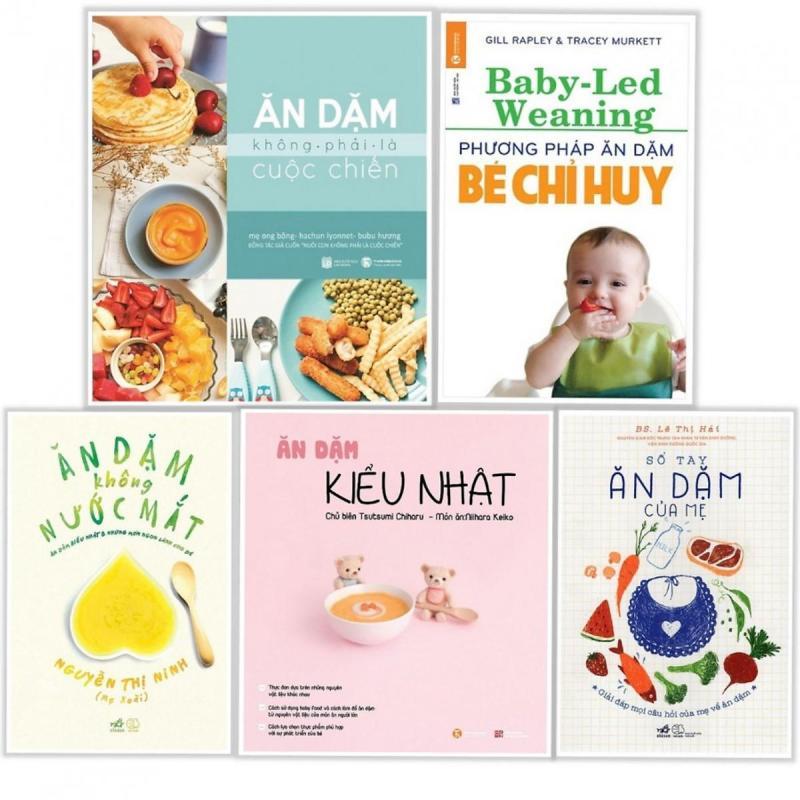 Sách - Combo 5 Cuốn Ăn Dặm Cho Bé Dành Cho Các Mẹ