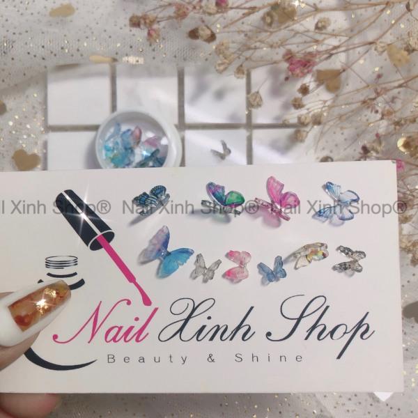 Hũ trang trí móng nail - 10 con bướm mix / charm bướm hot nail 2020 cao cấp