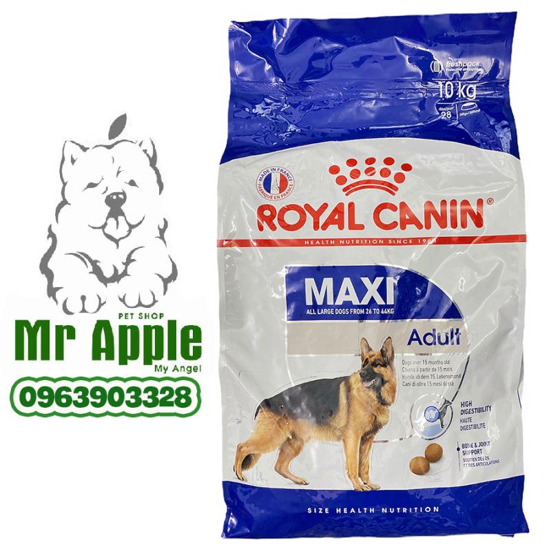 Thức ăn cho chó giống lớn (15 tháng tuổi trở lên) (10KG) (Royal Canin Maxi Adult) - TARCD017