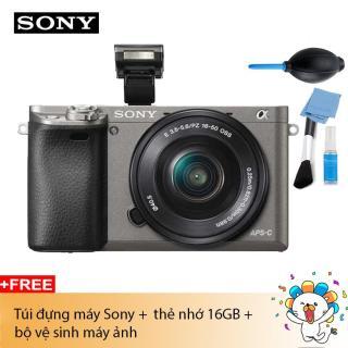 Máy ảnh Sony Alpha A6000 Kit 16-50mm F3.5-5.6 (Xám) Chính hãng (Tặng túi Alpha + Thẻ 16Gb) thumbnail