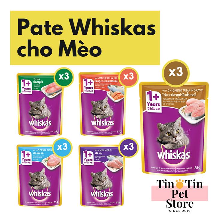 Chương Trình Ưu Đãi cho Combo 15 Gói Pate Whiskas 85g -  5 Mùi Vị Cho Mèo