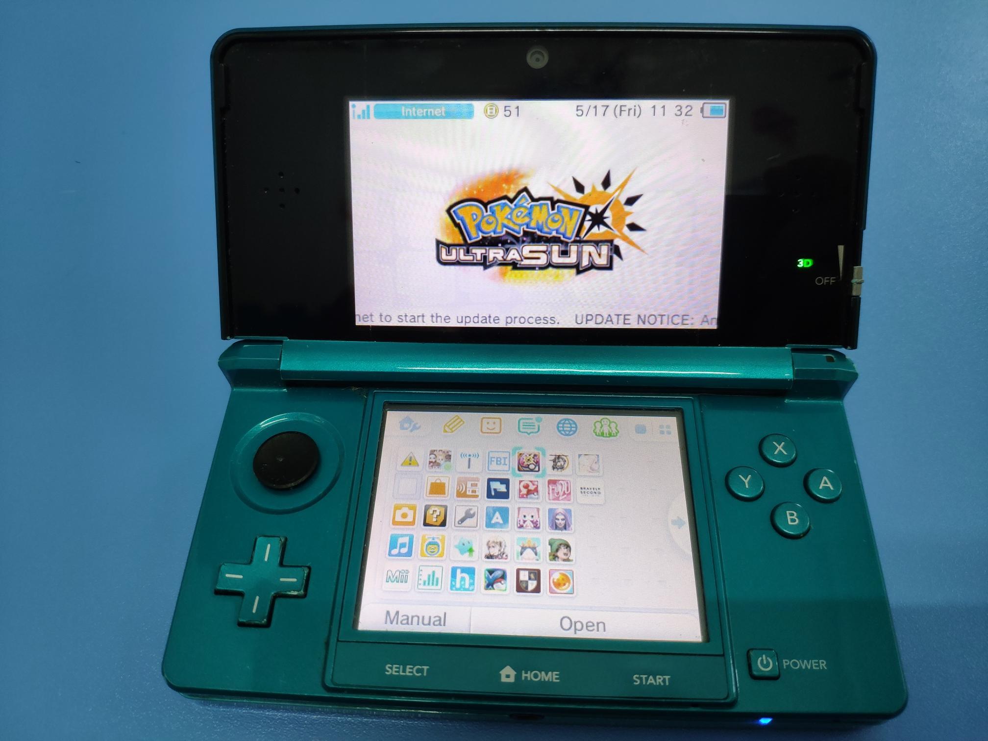 Máy chơi game Nintendo old 3DS hàng nội địa Nhật mã Japan - Tặng kèm thẻ nhớ 32GB Teamgroup chép full game vô cùng hấp dẫn Nhật Bản