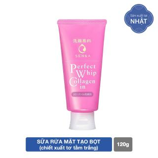 GIFT-Sữa rửa mặt ngăn ngừa lão hóa giảm nếp nhăn Collagen Senka Perfect Whip Collagen In 120g thumbnail