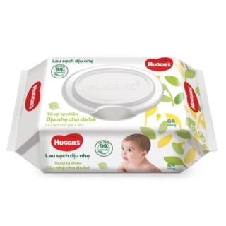Khăn giấy ướt cho trẻ sơ sinh HUGGIES (64 tờ) thumbnail