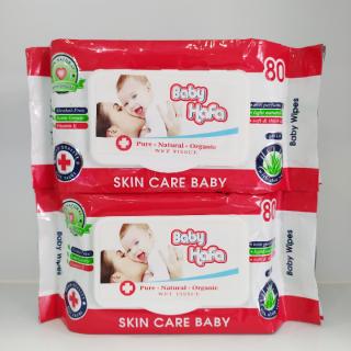 Khăn giấy ướt Baby Wipes 80gr gồm 100 tờ kích thước 20cm x 15cm thumbnail