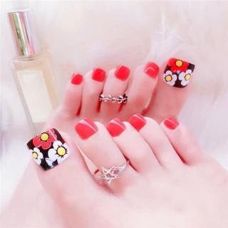 Hộp 24 Móng chân giả , nail giả , móng giả C52 (kèm keo dán) thumbnail