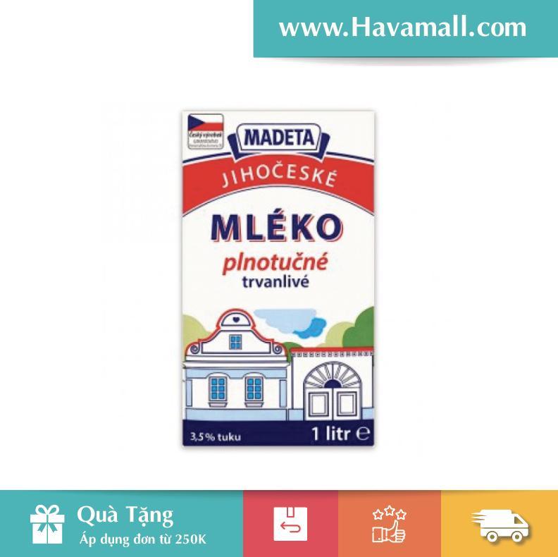 Sữa Tươi Nguyên Chất Tiệt Trùng Madeta UHT 3,5% (1 lít)