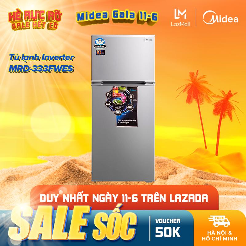 Tủ lạnh Midea MRD-333FWES 268 lít - Phù hợp gia đình 5-7 người - Thiết kế cao cấp - Hàng chính hãng bảo hành 2 năm.