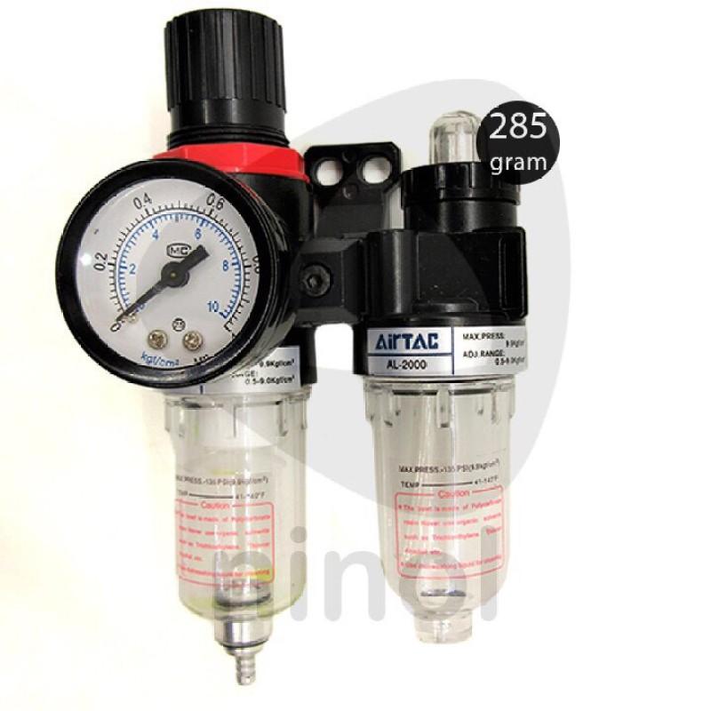 Lọc khí đôi airtac tách nước + dầu có điều áp & đồng hồ hiển thị áp suất, chất lượng đảm bảo an toàn đến sức khỏe người sử dụng, cam kết hàng đúng mô tả