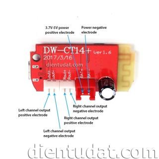 Mạch Khuếch Đại Âm Thanh Bluetooth 4.2 - 2 5W Cổng Micro USB 5V thumbnail