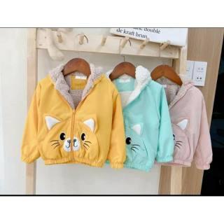 🍓 HÀNG HOT 🍓 Áo khoác lót lông tai thỏ cho bé 7kg đến 25kg, áo khoác cho bé, áo khoác lót lông cực ấm cho bé, áo khoác 2 lớp cho bé