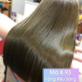 Thuốc nhuộm tóc màu vàng rêu sáng (kèm oxi và găng tay) thumbnail
