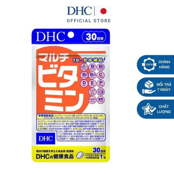 Viên uống DHC Multi Vitamin Nhật Bản bổ sung 12 loại vitamin tổng hợp tăng sức đề kháng gói 30 ngày nhập khẩu