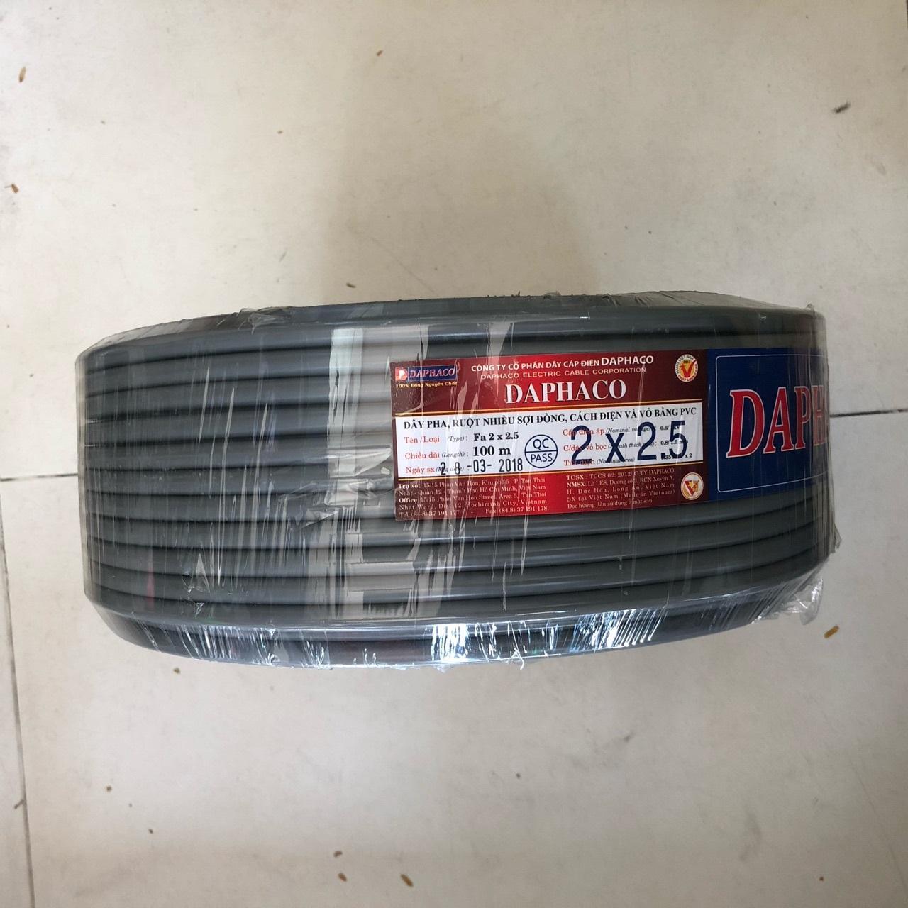dây điện daphaco FA 2x2.5 cuộn 100 m
