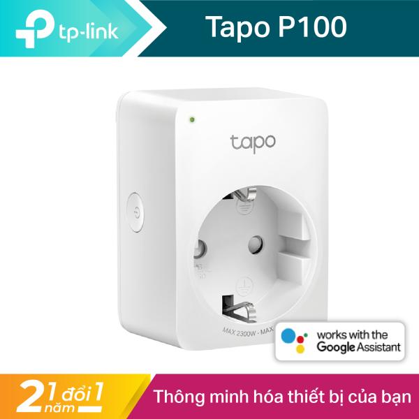 Ổ cắm thông minh TP-Link điều khiển từ xa có đèn LED báo tín hiệu Tapo P100 - Hãng phân phối chính thức